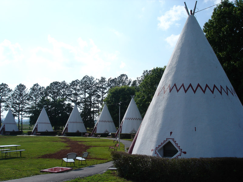 Each of the 15 WigWams are made of concrete and have one room with either one or two beds and a small bathroom.