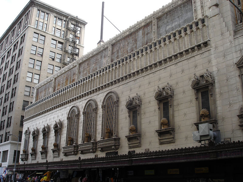 A view of the 8th street side of the Tower Theater - it's an amazing ornate structure.