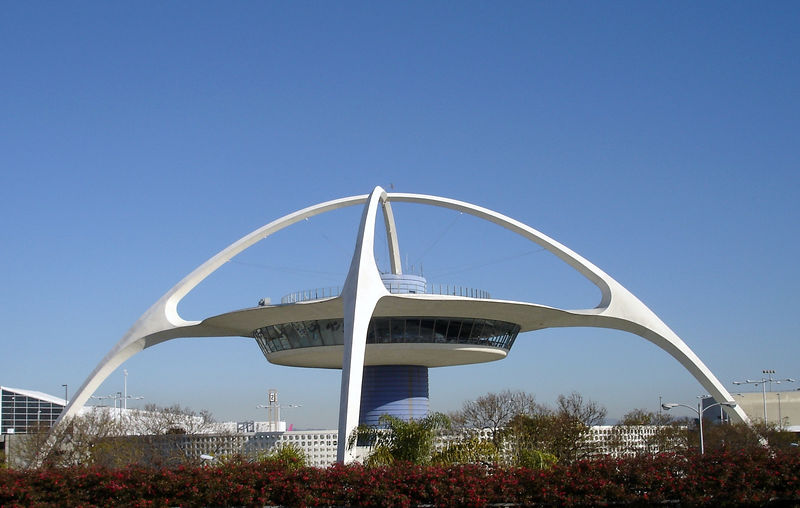 "LAX - Los Angeles International Airport - The Theme Building opened with the airport in 1961.  It is now home to the Encounter Restaurant and Lounge ( <a href=""http://www.encounterrestaurant.com"">http://www.encounterrestaurant.com</a>) - definitely an LA landmark"