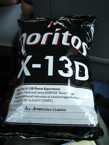 Doritos X-13D - name/guess the flavor...I refused to taste...several thought it tasted like cheeseburgers...