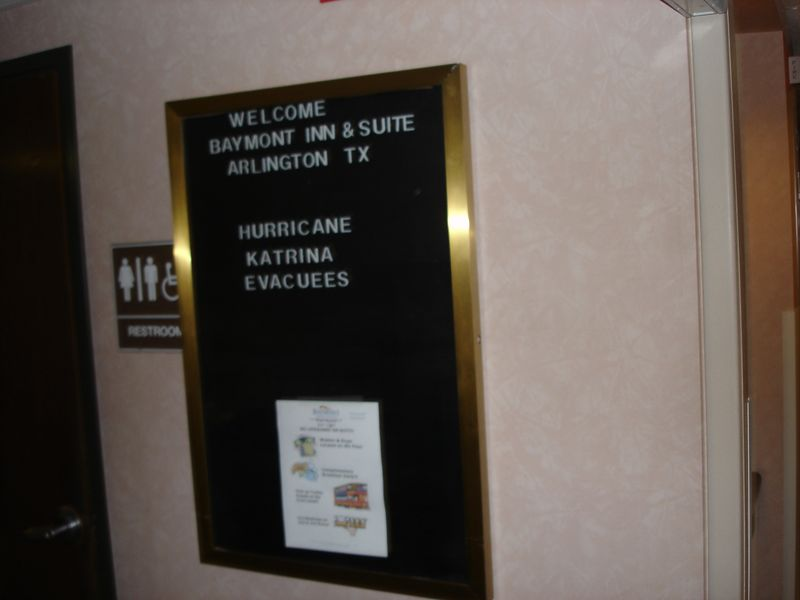 Our hotel right on the doorstep of SFOT was also half full with Katrina refu...evacuees.