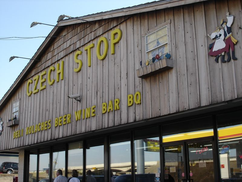Chezc Stop - all throughout Texas are small very ethnic-specific towns.  We happened to stumble onto a Czech one with at least 5 or 6 Czech related stores