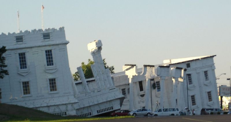 """Top Secret"" is one of the Dells many roadside attraction.  This picture doesn't really do it justice, but it's the White House UPSIDE DOWN.  From the few online reviews I read it's not really all that once inside, but it's definitely an eye catcher from the road!"