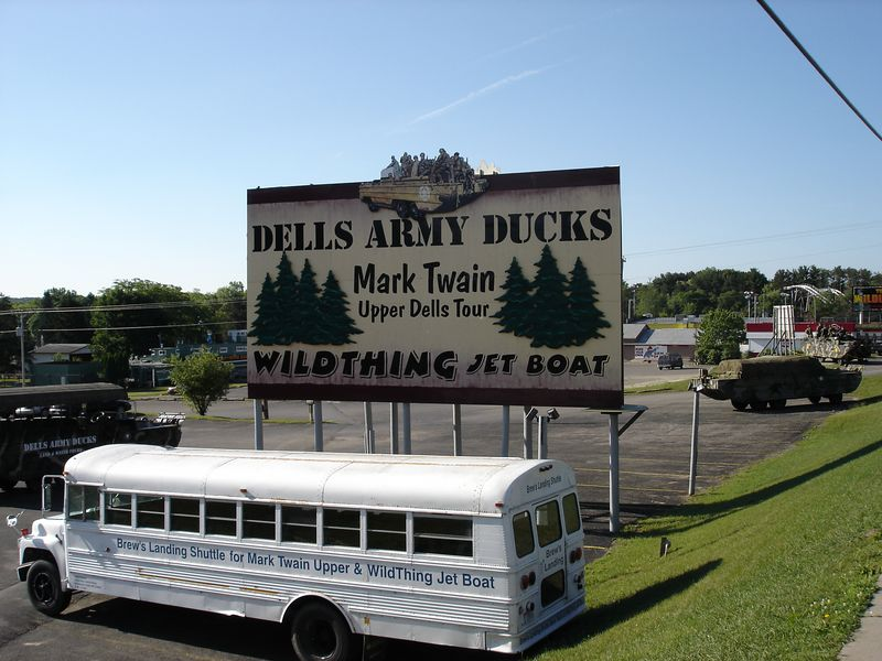 """Ride The Ducks"" - the Ducks are old military vehicles that both ride the roads and the water.  I counted at least 3 different ""Ride The Duck"" attractions and they are definitely road hogs!"
