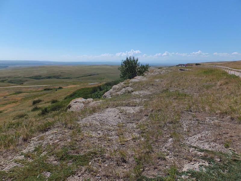 View south toward the US border.  Rocky Mountains on the southwestern horizon.