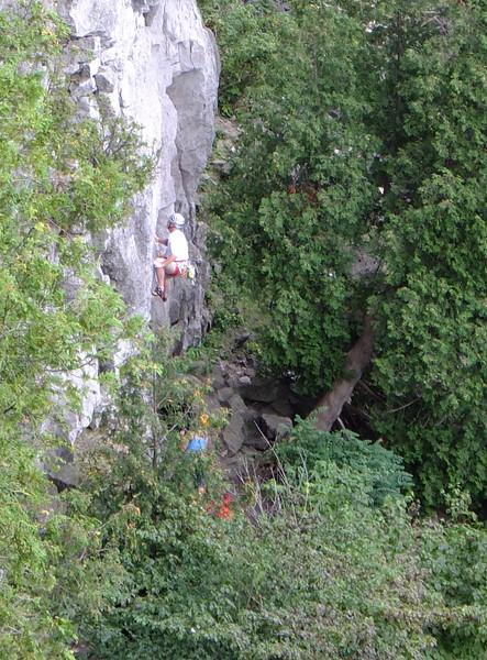 Climbers on the escarpment at Mount Nemo