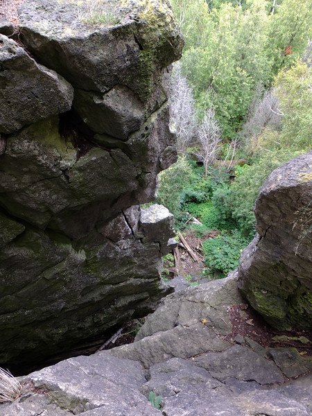 It's hard to convey depth in a photo...it's a long way down!