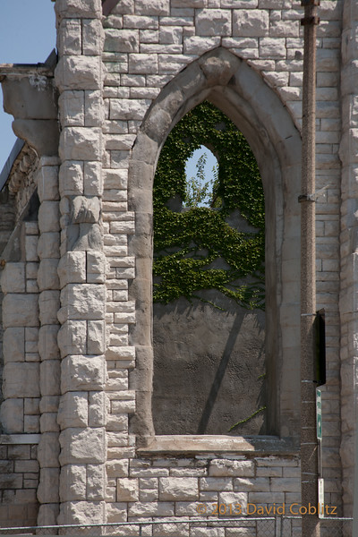 Roofless Church window