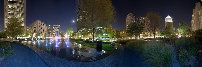 City Garden Night panorama, St. Louis, MO