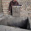 Public water fountain 70 AD, Pompeii, Italy