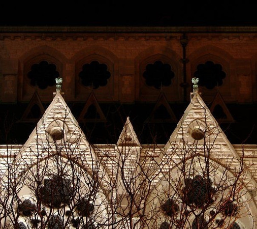 St. Xavier Church at night from Lindwll side.