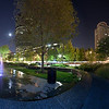 City Garden Night panorama, St. Louis, MO