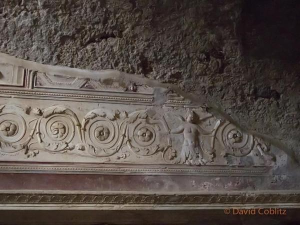 Bathhouse wall, Pompeii, Italy