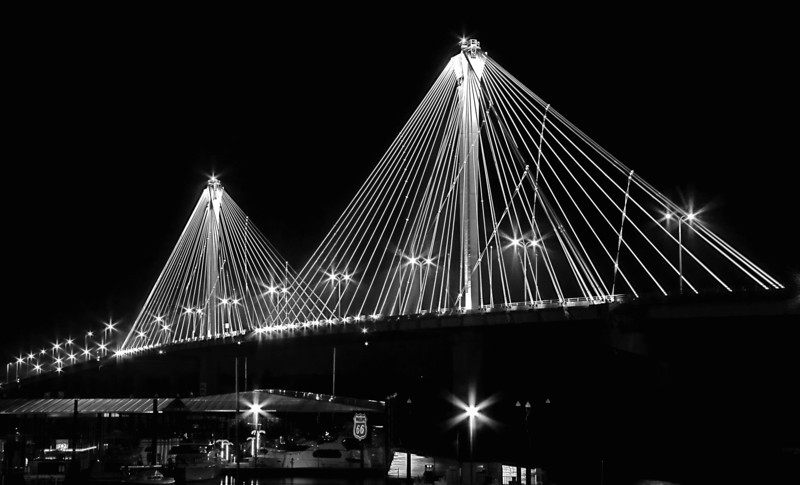 Clark Bridge night - Alton, Illinois