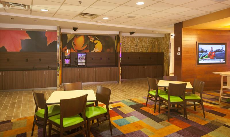 Fairfield Inn by Marriott lobby - Shot for Merric Millwork