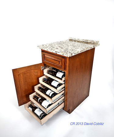 Wine Logic Product shot after insertion  into existing cabinet