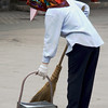Street Sweeper in the Forbidden City, Beijing, China