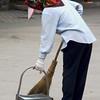 Street Sweeper in the Forbidden City, Beijing, China
