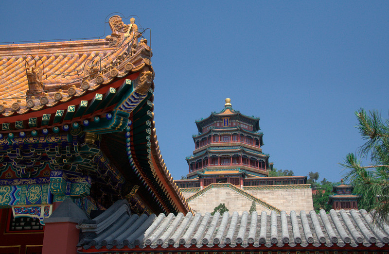 Summer Palace from a distance outside Beijing, China