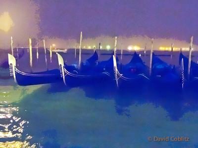 ItalyNov2012-2870-Gondolas at night painterly-Edit CRsml