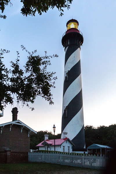 St. Augustine Lighthouse at sunset