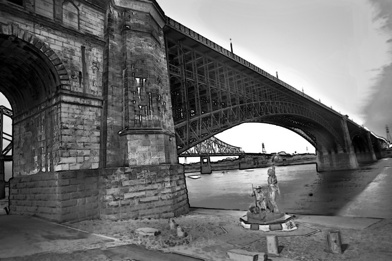 Eads' Bridge St. Louis - Black & White version
