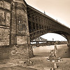 Eads' Bridge St. Louis - Sepia version