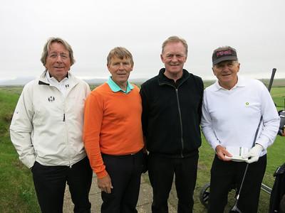 F.v. Guðmundur Friðrik Sigurðsson, Guðjón Sveinsson, Þórhallur Sigurðsson, Magnús Hjörleifsson allir Golfklúbbnum Keili