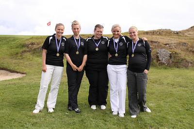 Heiða Guðnadóttir, Tanja Rós Ingadóttir, Helga Rut Svanbergsdóttir, Nína Björk Geirsdóttir, Katrín Dögg Hilmarsdóttir