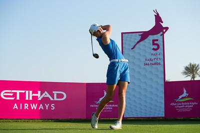Olafia Kristinsdottir of Iceland on the 5th tee during the second round