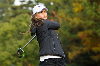 Annabel Dimmock during a practice round