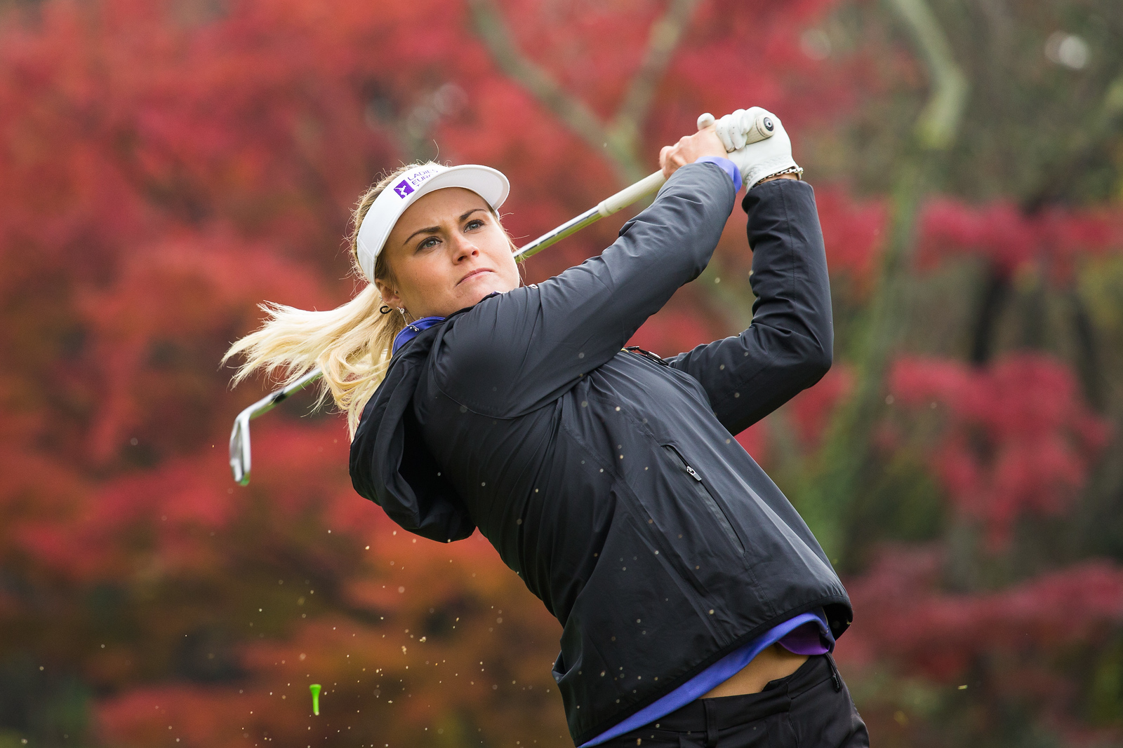 Carly Booth of Scotland during a practice round