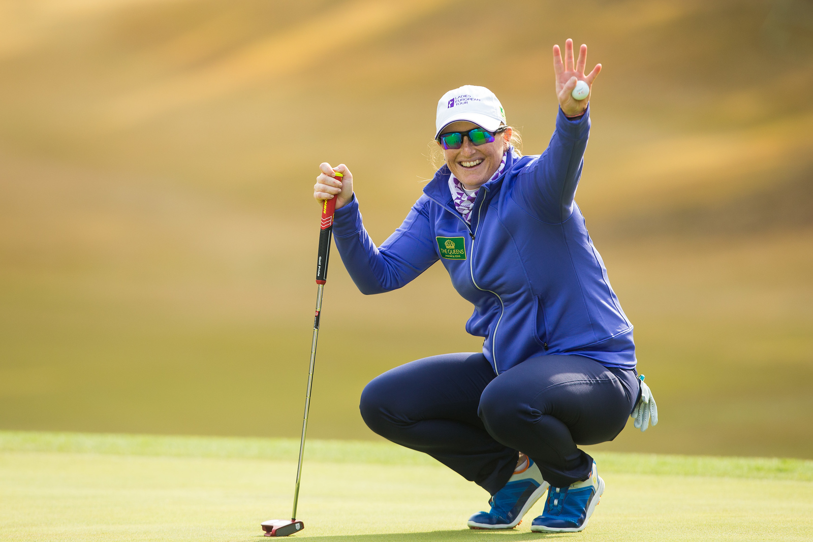 Holly Clyburn of England during the pro-am