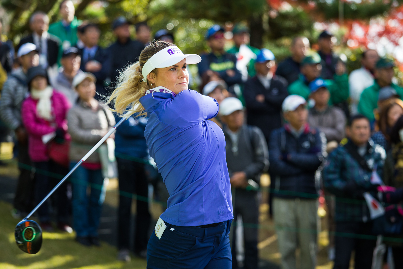 Carly Booth of Scotland during the Friday fourballs