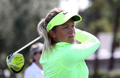 03/04/2015 LPGA 2015, ANA Inspiration-Golf's First Major, Mission Hills Country Club, Dinah Shore Tournament Course, Rancho Mirage, California, USA. 02-05 April.  Suzann Pettersen of Norway tees off during the second round.