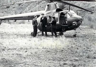 Фото,сделанные с этого вертолёта ,обошли многие центральные и областные газеты страны. Посёлок Сенокосный 1962 год