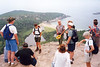 UP TOP WITH GARY<br /> My boss, Gary, holding court to a somewhat captive audience. Behind Gary is Sand Beach with Great Head grazing his head.