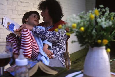 Samedi 06/05/1994.  Merlin avec Régine à Zuidzande.