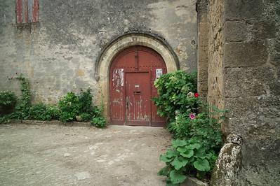 Entrée du château de Saint-Macaire.