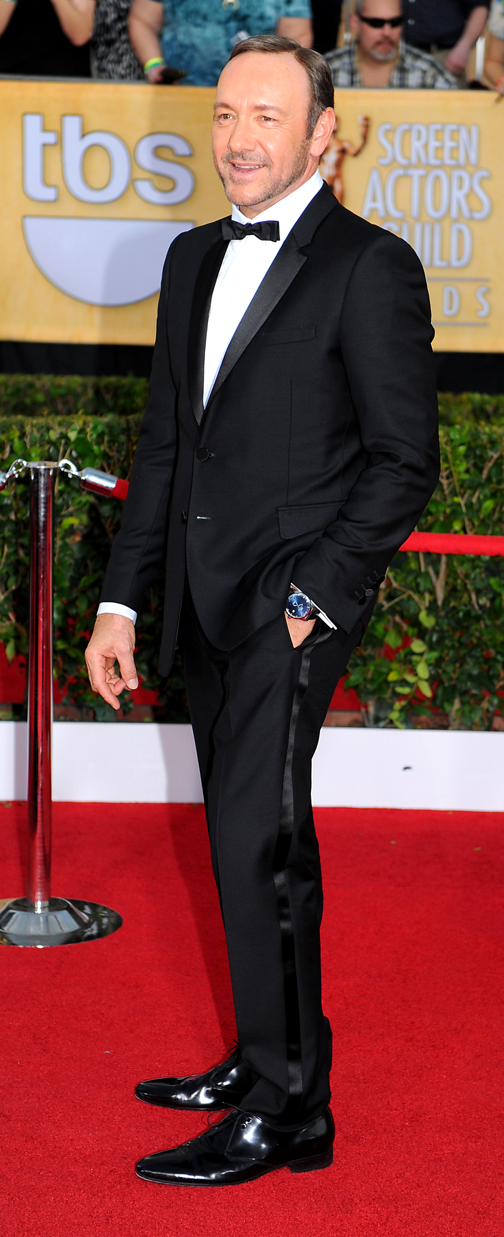 . Kevin Spacey arrives at the 20th Annual Screen Actors Guild Awards  at the Shrine Auditorium in Los Angeles, California on Saturday January 18, 2014 (Photo by Michael Owen Baker / Los Angeles Daily News)