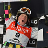 VEYSONNAZ, SWITZERLAND - JANUARY 19: World Champion Boldykov (RUS) with his prize money at the FIS World Championship Snowboard Cross finals : January 19, 2012 in Veysonnaz Switzerland