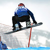 VEYSONNAZ, SWITZERLAND - JANUARY 21: William Bankes (FRA) in the FIS World Championship Snowboard Cross finals : January 21, 2012 in Veysonnaz Switzerland