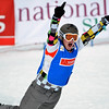 VEYSONNAZ, SWITZERLAND - JANUARY 19:  World Champion Andrey Boldykov (RUS) wins the FIS World Championship Snowboard Cross finals : January 19, 2012 in Veysonnaz Switzerland