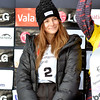 VEYSONNAZ, SWITZERLAND - JANUARY 19: 2nd place Maeli Jekova (Bul) at the FIS World Championship Snowboard Cross finals : January 19, 2012 in Veysonnaz Switzerland