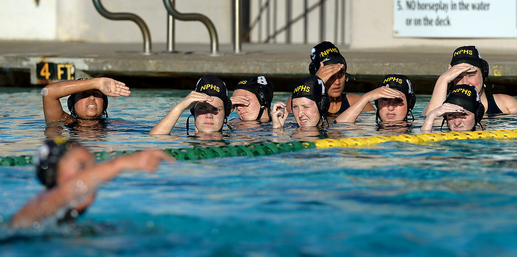 . Newbury Park subs watch the action against Agoura, Wednesday, January 29, 2014, at Newbury Park. (Photo by Michael Owen Baker/L.A. Daily News)