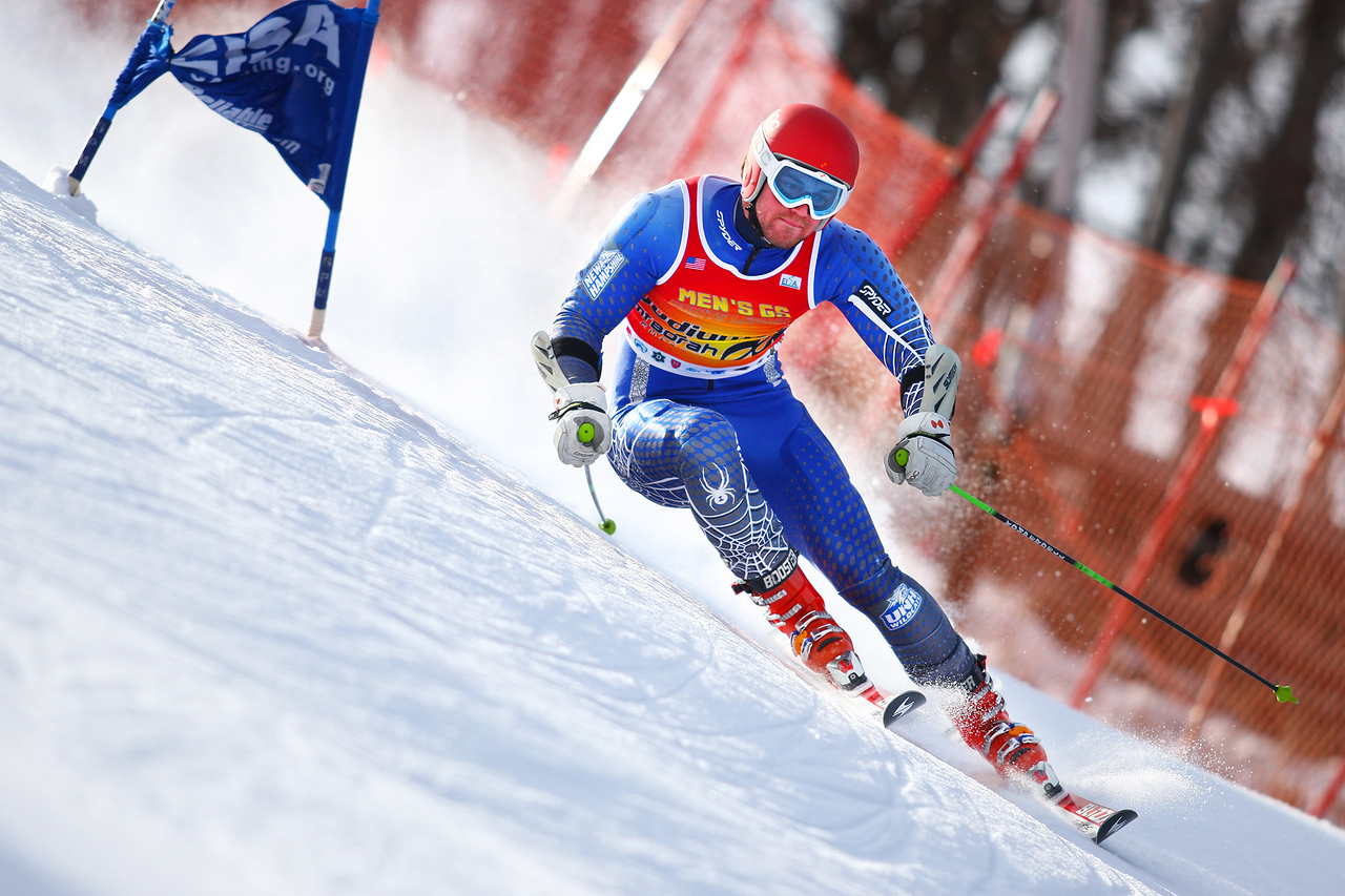 Photo Credit: Lincoln Benedict/EISA<br /> <br /> William Ford takes the win on the second run of the Giant Slalom during the Dartmouth Carnival at the Dartmouth Ski Way in Lyme Center, New Hampshire.