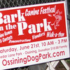bark in park sign