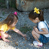 Anna & Addyson picking out rocks