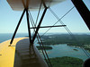 THE MAINE COAST FROM THE AIR<br /> I just love this shot of the coast through the struts and wires. There's nothing like the view from a biplane, let me tell you.