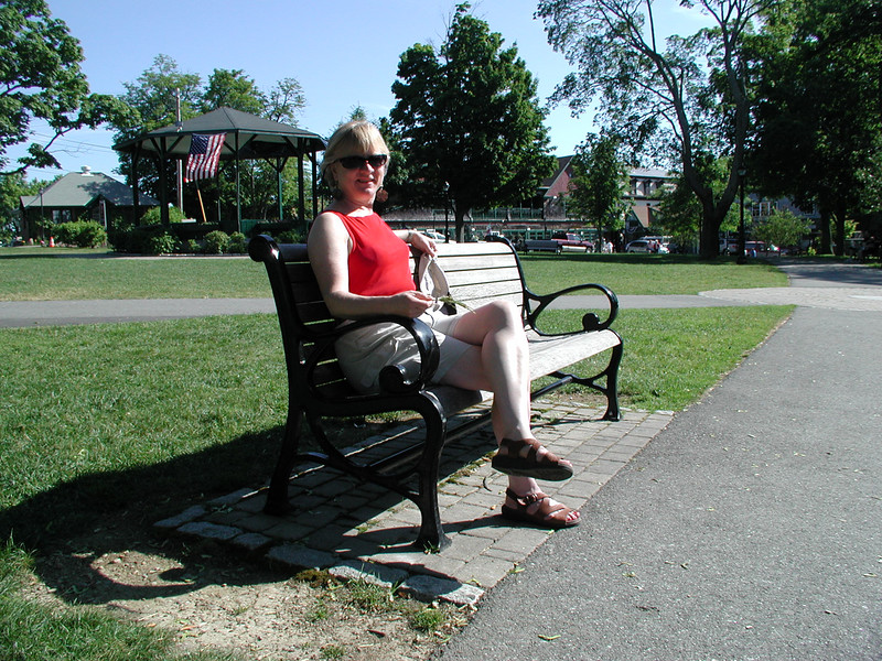 Cousin Mary on the Village Green